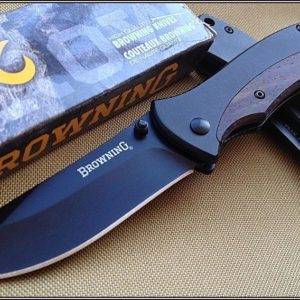 BROWNING FOLDING TACTICAL KNIFE 4.5 INCH CLOSED W/ POCKET CLIP **RAZOR SHARP**