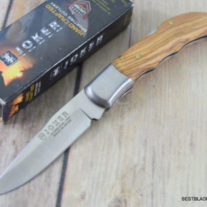 JOKER KNIVES MADE IN SPAIN LOCK-BACK FOLDING KNIFE OLIVE WOOD HANDLE JKRNO09
