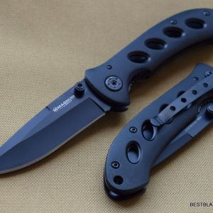 BOKER MAGNUM SHADOW LINERLOCK FOLDING KNIFE 4.25 INCH CLOSED WITH CLIP