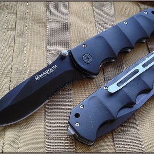 BOKER MAGNUM STEALTH TACTICAL FOLDING KNIFE 5.25 INCH CLOSED WITH CLIP