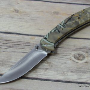 BROWNING CAMO TACTICAL LINER-LOCK FOLDING POCKET KNIFE WITH POCKET CLIP