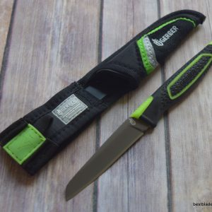 7 INCH OVERALL GERBER FREESCAPE PARING KNIFE FABRIC W/ SHEATH RAZOR SHARP BLADE