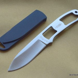 KA-BAR DOZIER SKELETON FIXED BLADE NECK KNIFE WITH HARD SHEATH