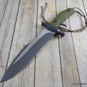 RAMBO LAST BLOOD HEARTSTOPPER FIXED BLADE HUNTING KNIFE FULL TANG LEATHER SHEATH